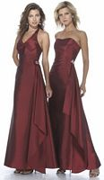Alexia Designs Strapless Iridescent Taffeta Long Bridesmaid Dress 2910 image
