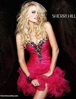 Sherri Hill Jeweled Ruffle Short Prom Party Dress 2912 image