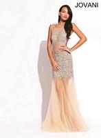 Jovani 2913 Sheer Panels Formal Dress image