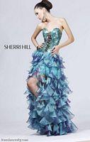 Sherri Hill Long Sequin Ruffle Prom Dress 2920 image