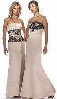 Alexia Designs Long Satin Bridesmaid Dress with Lace 2938 image
