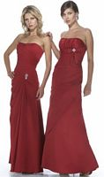 Alexia Designs Satin Bridesmaid Dress with Pleating 2946 image