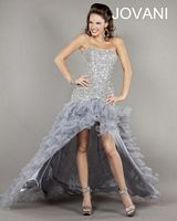 Jovani 2964 High Low Ruffle Gown image