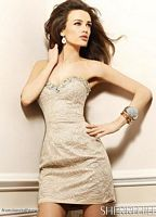 Sherri Hill Nude Silver Beaded Cocktail Dress 2964 image