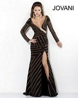 Jovani 2965 Studded Formal Dress image
