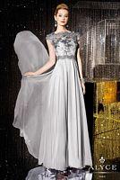 Alyce Jean De Lys 29654 Cap Sleeve Sheer Lace Mothers Dress image