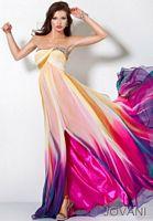 Jovani Fuchsia and Purple Long Chiffon Prom Dress 3006 image