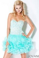 Jovani Short Sequin Ball Gown Prom Dress 30075 image
