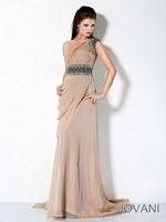 Jovani 3012 One Strap Chiffon Evening Dress image
