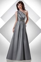 Bari Jay Sophisticated One Shoulder Long Bridesmaid Dress 304 image