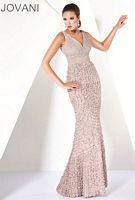 Jovani V Neck Empire Ruffle Evening Dress 30715 image
