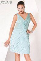 Jovani Evenings Rosette Ruched Cocktail Dress 30716 image