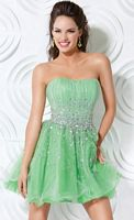 Jovani Homecoming Party Dress with Ruffle Skirt 3076 image