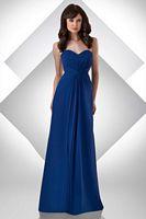 Size 12 Royal Bari Jay Bella Chiffon Long Bridesmaid Dress 310 image