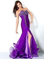 Jovani 3100 Spiral Hem Ruched Evening Dress image