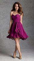 Size 16 Blush Mori Lee Affairs 31035 Short Hi-Lo Bridesmaid Dress image
