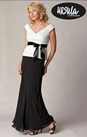 Size 18 Off White and Black Ursula Mother of the Bride Dress 31224 image
