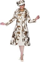 Dorinda Clark Cole 3436 Animal Print Womens Church Suit image