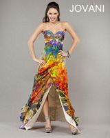 Jovani Bright Floral Print Evening Gown 3440 image