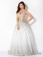 Jovani Ball Gown 3442 with Satin and Tulle image