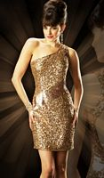 MacDuggal Evening Sexy Metallic Holiday Cocktail Dress 3455T image