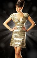 Mac Duggal Evening Spicy Metallic Cocktail Dress 3456T image