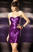 MacDuggal Evening Strapless Sequin Cocktail Dress 3458T image