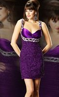 Mac Duggal Evening Sequin Cocktail Dress 3459T image