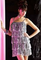 MacDuggal Evening Sassy Fringed Sequin Cocktail Dress 3460T image