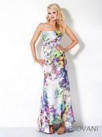 Jovani Strapless Satin Evening Dress 3464 image