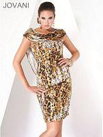 Jovani Leopard Print Evening Dress 3483 image
