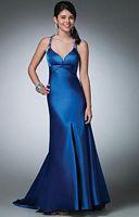 Alfred Angelo Beaded T Back Long Prom Dress 3502 image