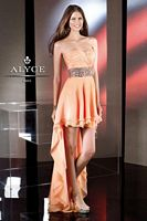 Alyce BDazzle 35502 Iridescent Silky Chiffon Formal Dress image