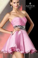 Alyce BDazzle 35507 Flirty and Fun Silky Chiffon Short Party Dress image