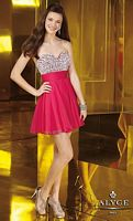 Alyce Sweet Sixteen Short Crystal Bust Dress 3558 image