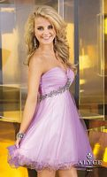 Alyce 3561 Sweet Sixteen Short Dress with Floral Beading image