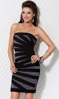 Jovani Grey and Black Cocktail Dress for Homecoming 3568 image