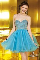 Alyce 3570 Sweet Sixteen Beaded Tulle Short Dress image