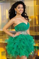 Alyce Sweet Sixteen Short Ruffle Organza Dress 3574 image
