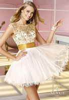 Alyce Sweet Sixteen 3587 Floral Sequin Short Dress image