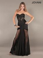 Jovani 3592 Sheer Formal Dress image