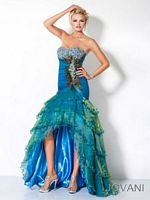 Jovani Iridescent Organza High Low Dress 3604 image