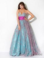 Jovani 3653 Jeweled Bust Ball Gown image