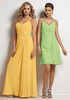 Size 14 Lime Apple Jordan Knee Length Chiffon Bridesmaid Dress 369K image