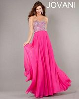 Jovani 3740 Empire Waist Fitted Gown image