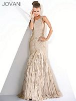 Jovani Latte Evening Dress 3825 image