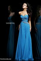 Sherri Hill 3881 Ruched Beaded Evening Dress image