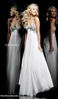Sherri Hill 3903 Beaded Empire Evening Dress image