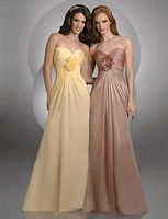 Size 14 Vanilla Bari Jay Iridescent Rosettes Bridesmaid Dress 400 image