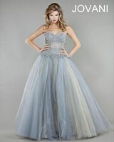 Jovani 4000 Ball Gown with Sheer Panels image